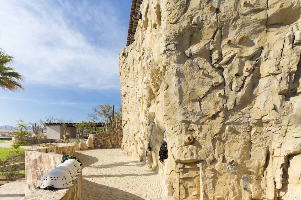 The climbing wall at Maravilla