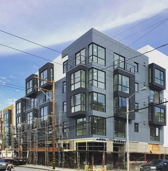 Mission Statement, a new condo development in the Mission District, is located on 18th Street, one bl