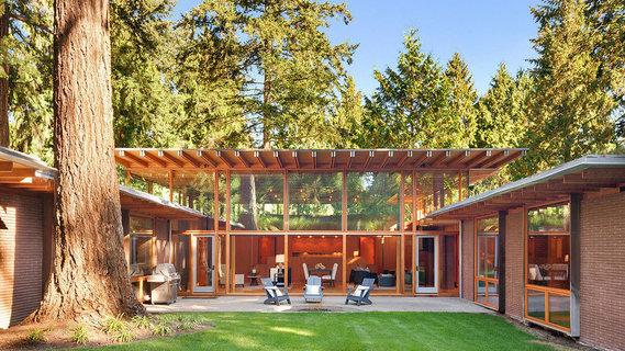 每日豪宅 | 灵感源于自然的西雅图郊外木结构别墅