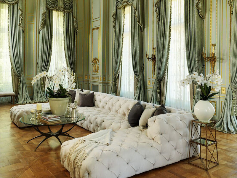 Pictured is the interior staging of the world famous 'Fleur De Lys' mansion in the Beverly Hills by M
