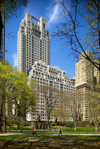 One of Rober A.M. Stern Architects' most famous buildings, 15 Central Park West, is shown above.