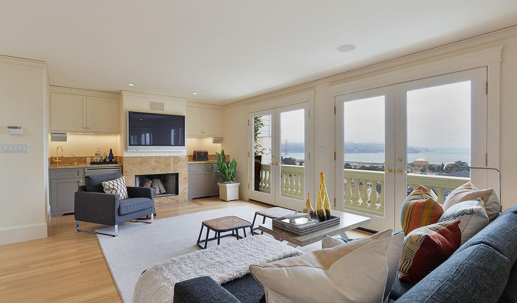 A five bedroom, six bathroom home available in Pacific Heights, San Francisco for $9 million
