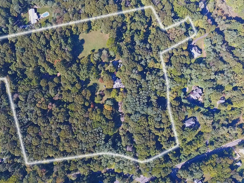 This property is split into two parcels that are 6.46 acres and 21 acres.