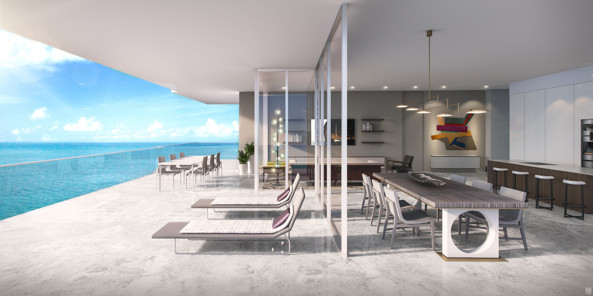 L'Atelier on Collins Avenue consists of 23 residences, including half-floor units with up to 1,171 sq