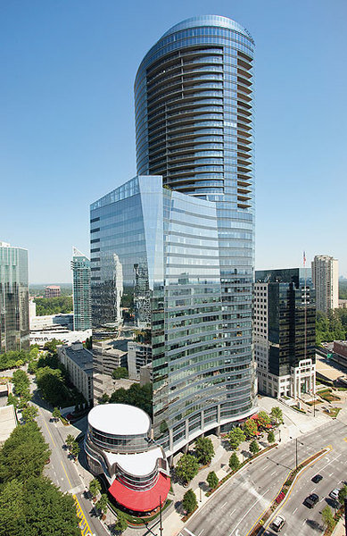 The Sovereign condominium building in the heart of the Buckhead area in Atlanta, Georgia
